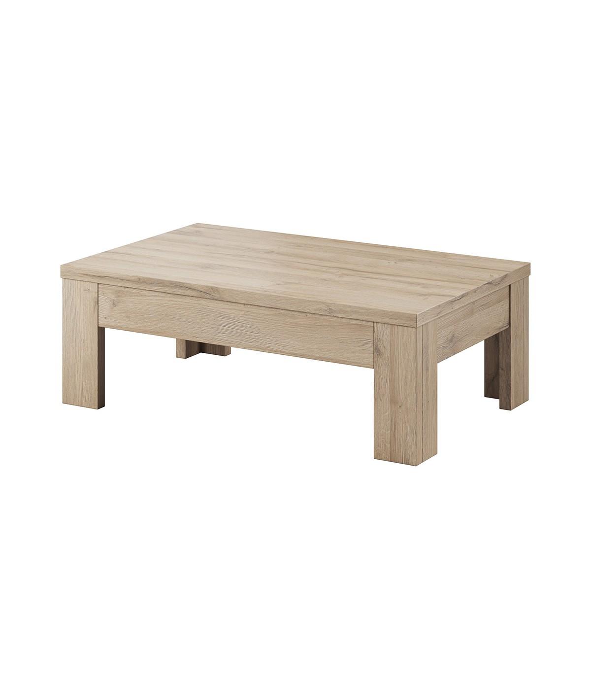 Table basse style classique L110cm - Marron
