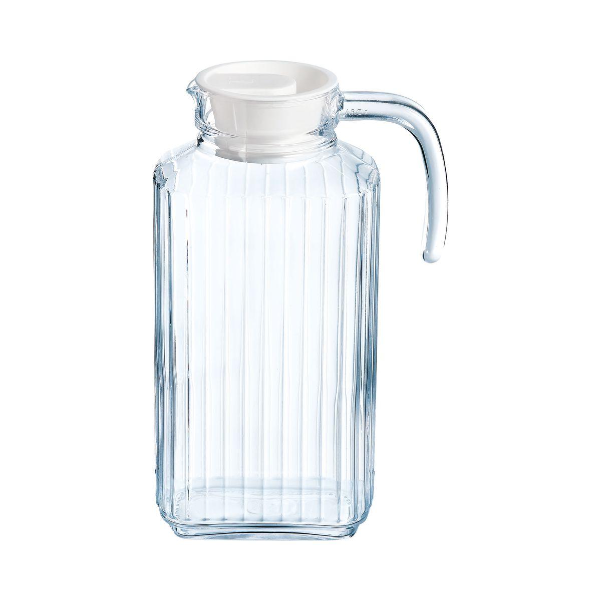 Broc en verre avec bec verseur et poignée 1,7L