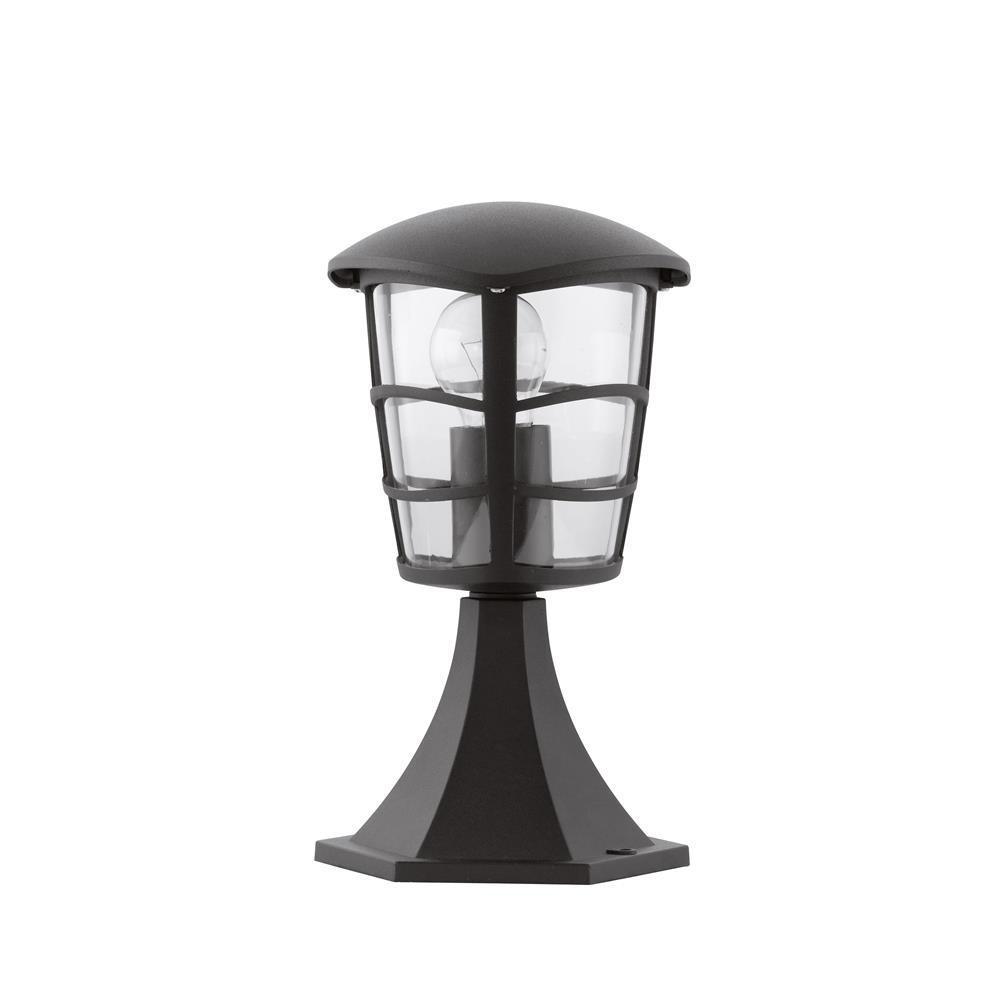 Borne d'extérieur métal noir H30cm