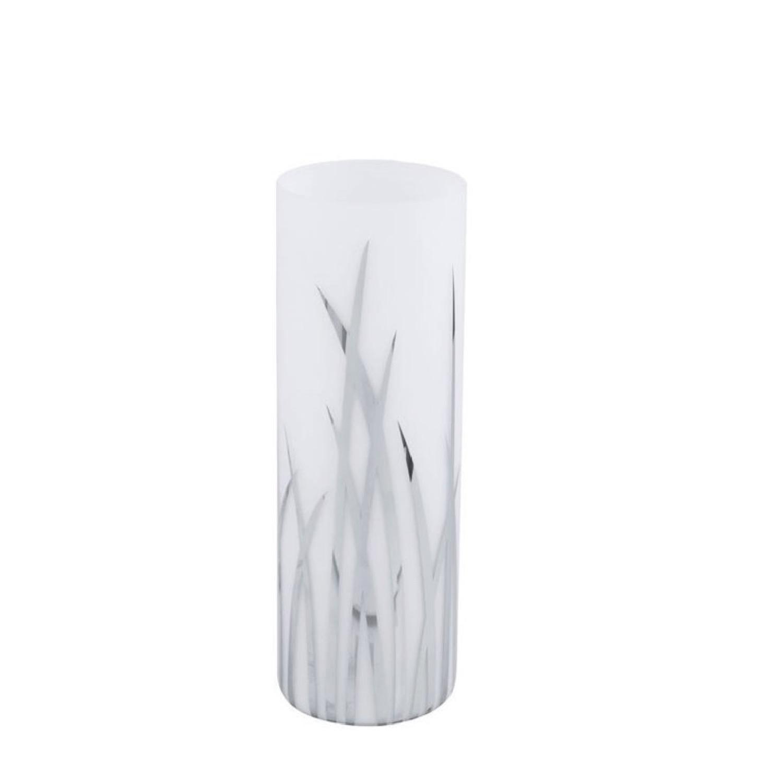 Lampe à poser verre & chrome H26cm