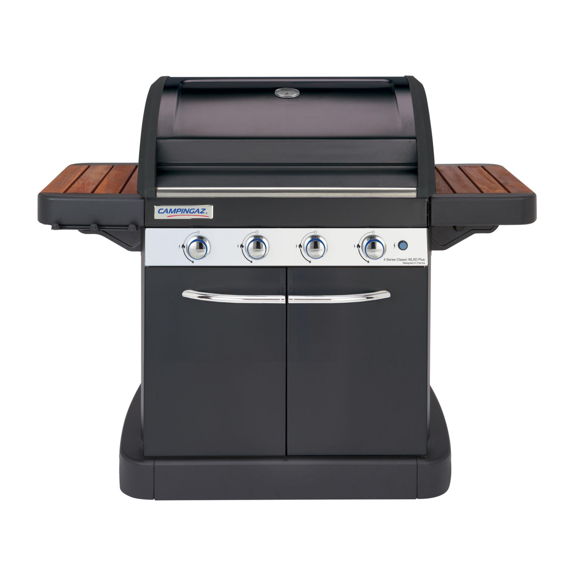 Barbecue à gaz 3 en 1 avec grill plancha four