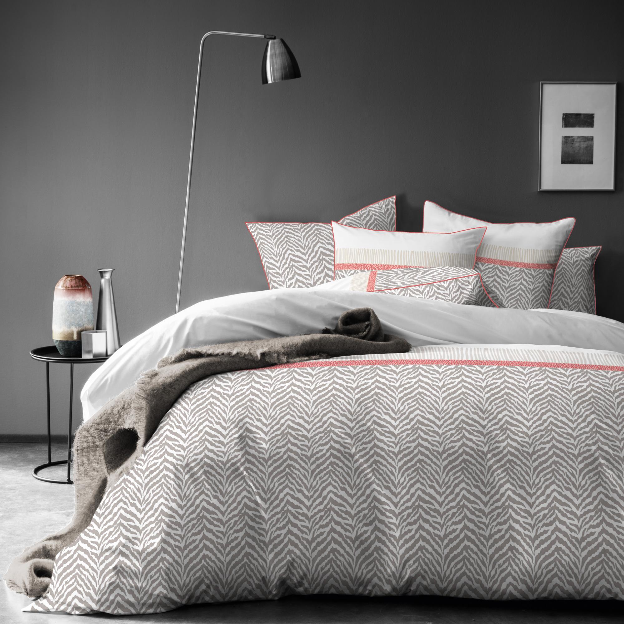 Parure de lit imprimée en coton 140x200 cm