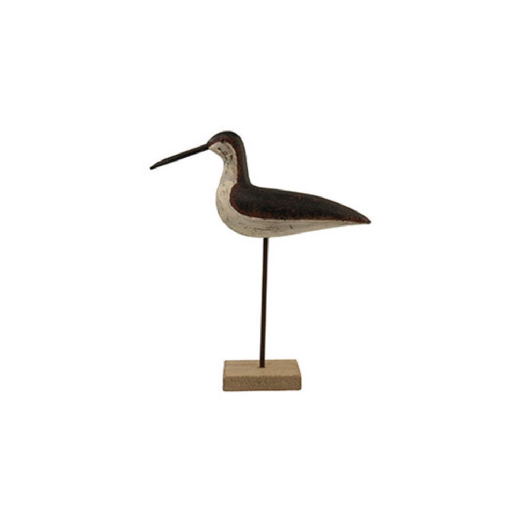 Oiseau marin décoratif à poser en bois