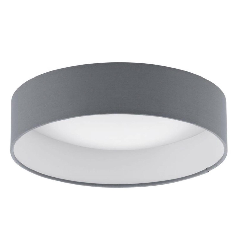 Plafonnier LED rond plastique & tissu D32cm