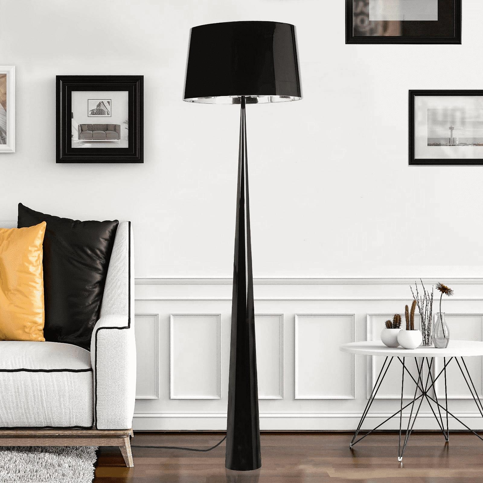 Lampadaire noir H177,5cm