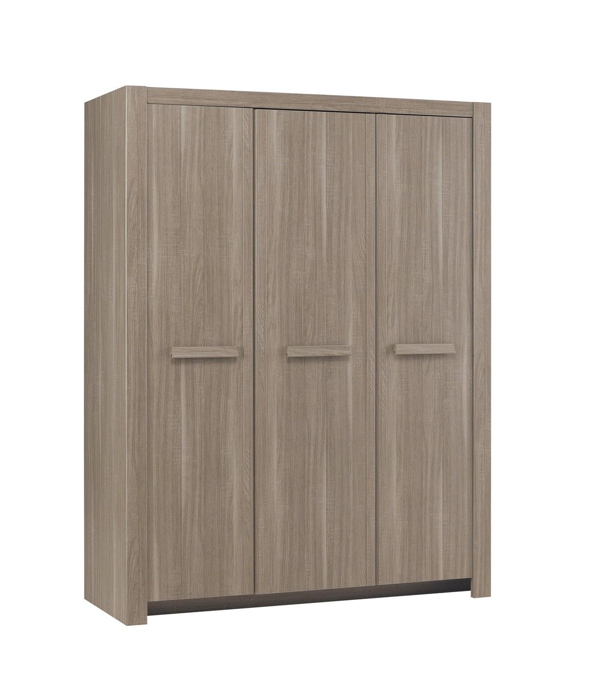Armoire 3 portes couleur chêne
