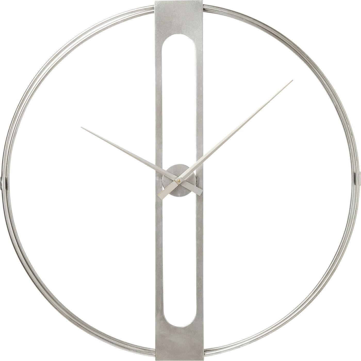 Horloge en acier argenté D107
