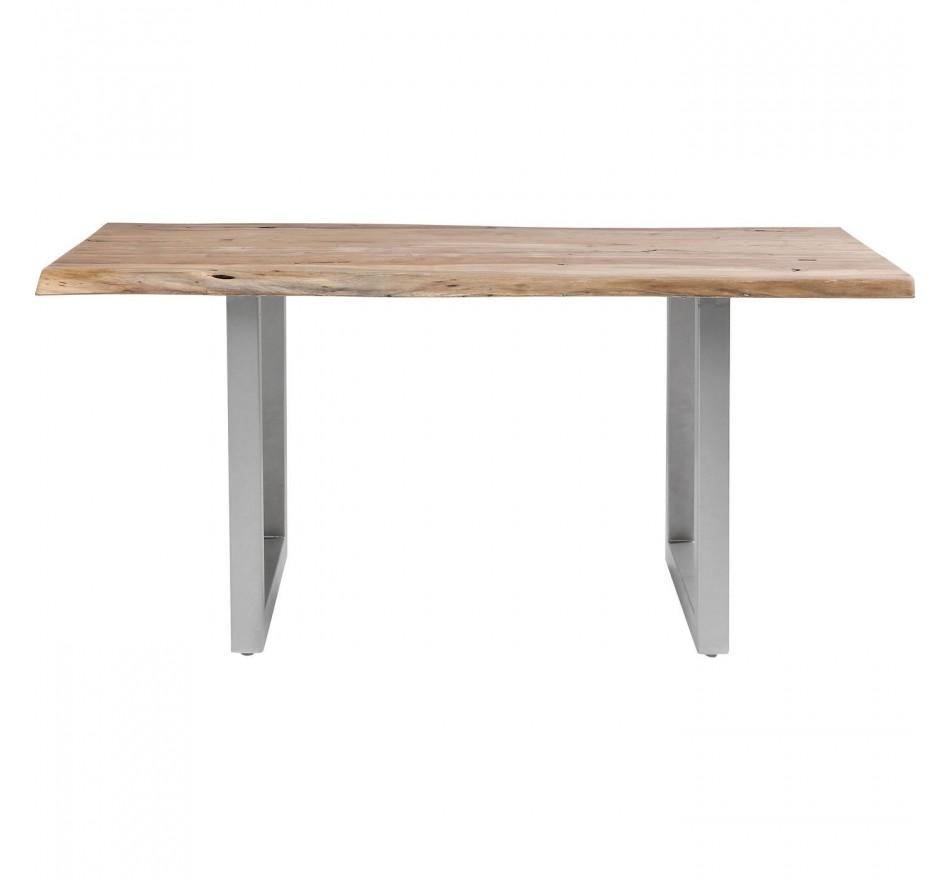 Table à manger 8 personnes en acacia brut et acier L195