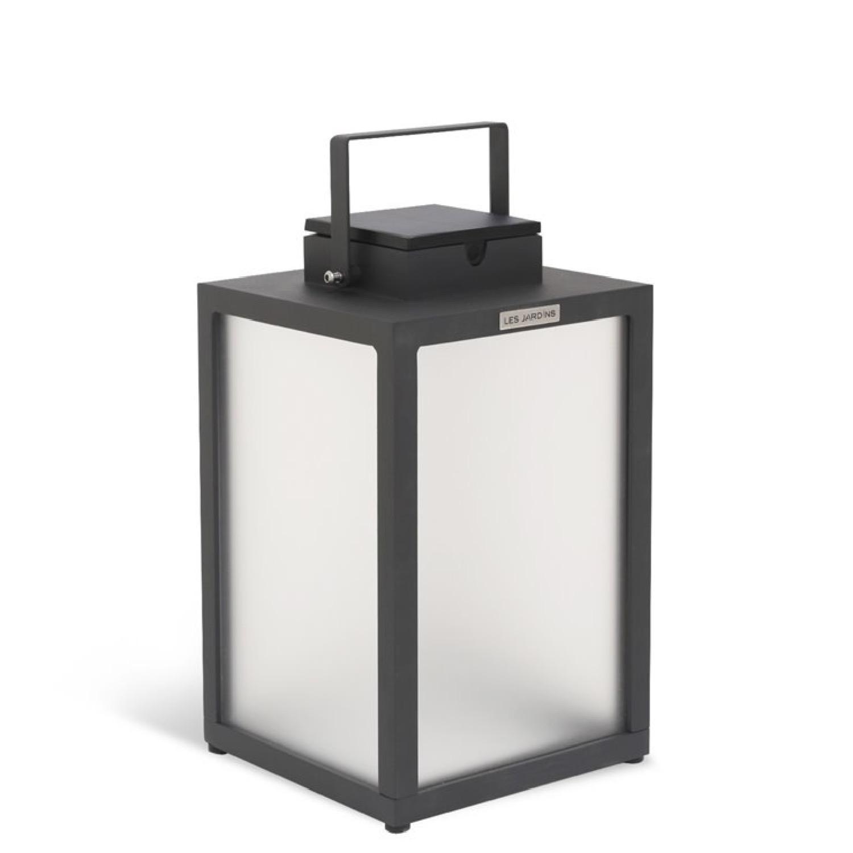 Lampe d'extérieur LED rechargeable et solaire aluminium