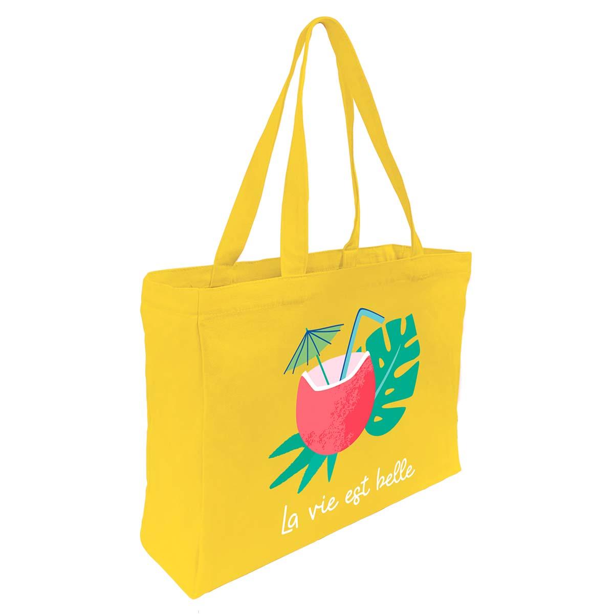 Tote Bag Coton Imprimé Noix De Coco