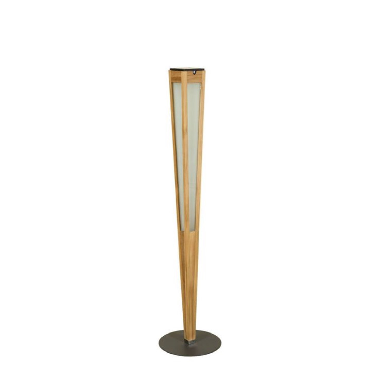 Torche d'extérieur LED à poser rechargeable & solaire H120cm