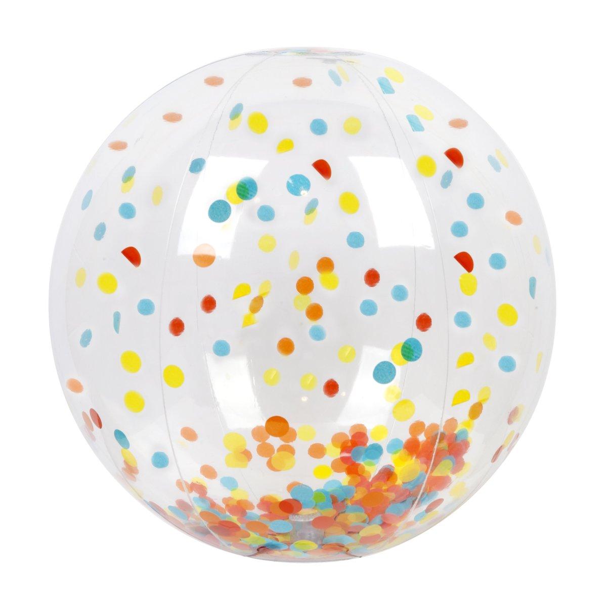 Ballon de plage gonflable confettis multicolore