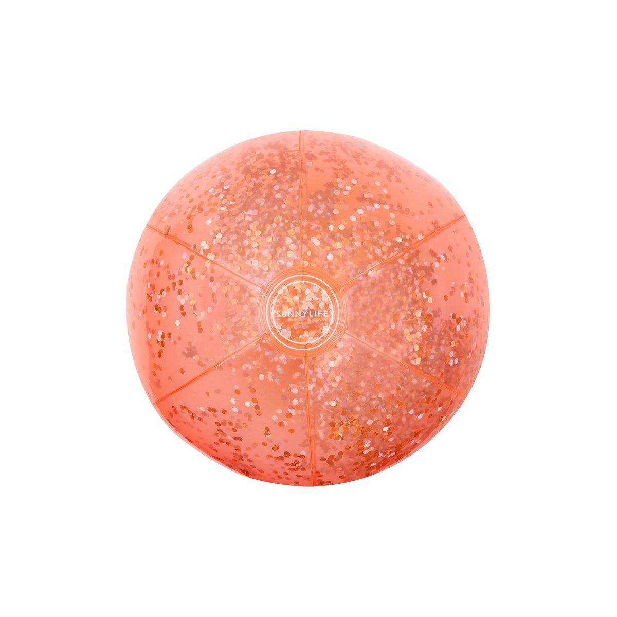 Ballon gonflable corail à paillettes