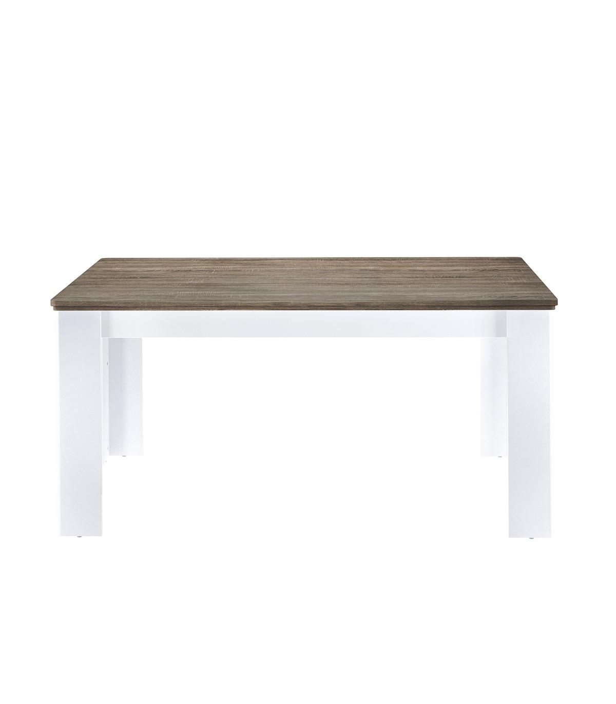 Table extensible plateau couleur chêne - 160-240cm - 8pers.