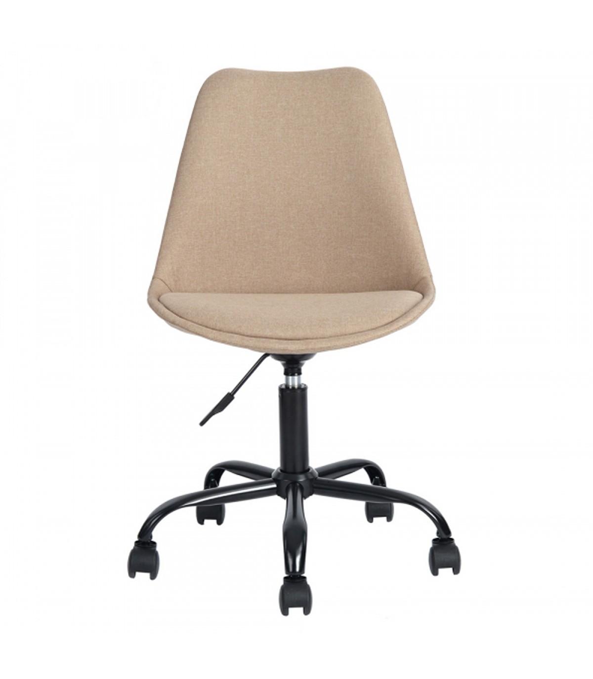 Chaise de bureau en tissu - Beige