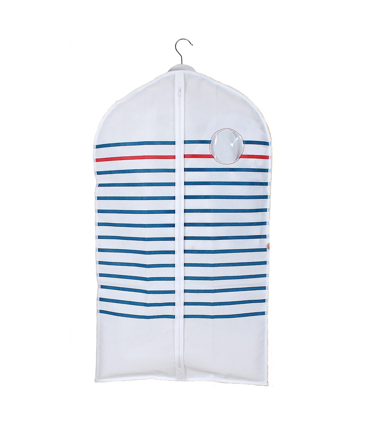 Housse pour vêtements à rayures - lot de 2 - Blanc