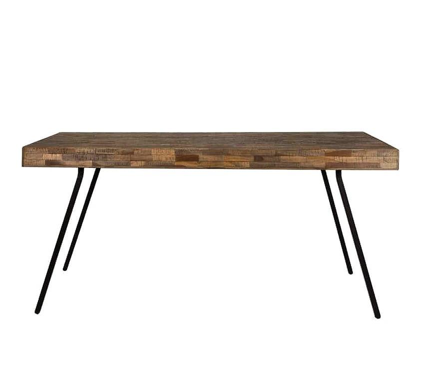Table repas bois et acier L200