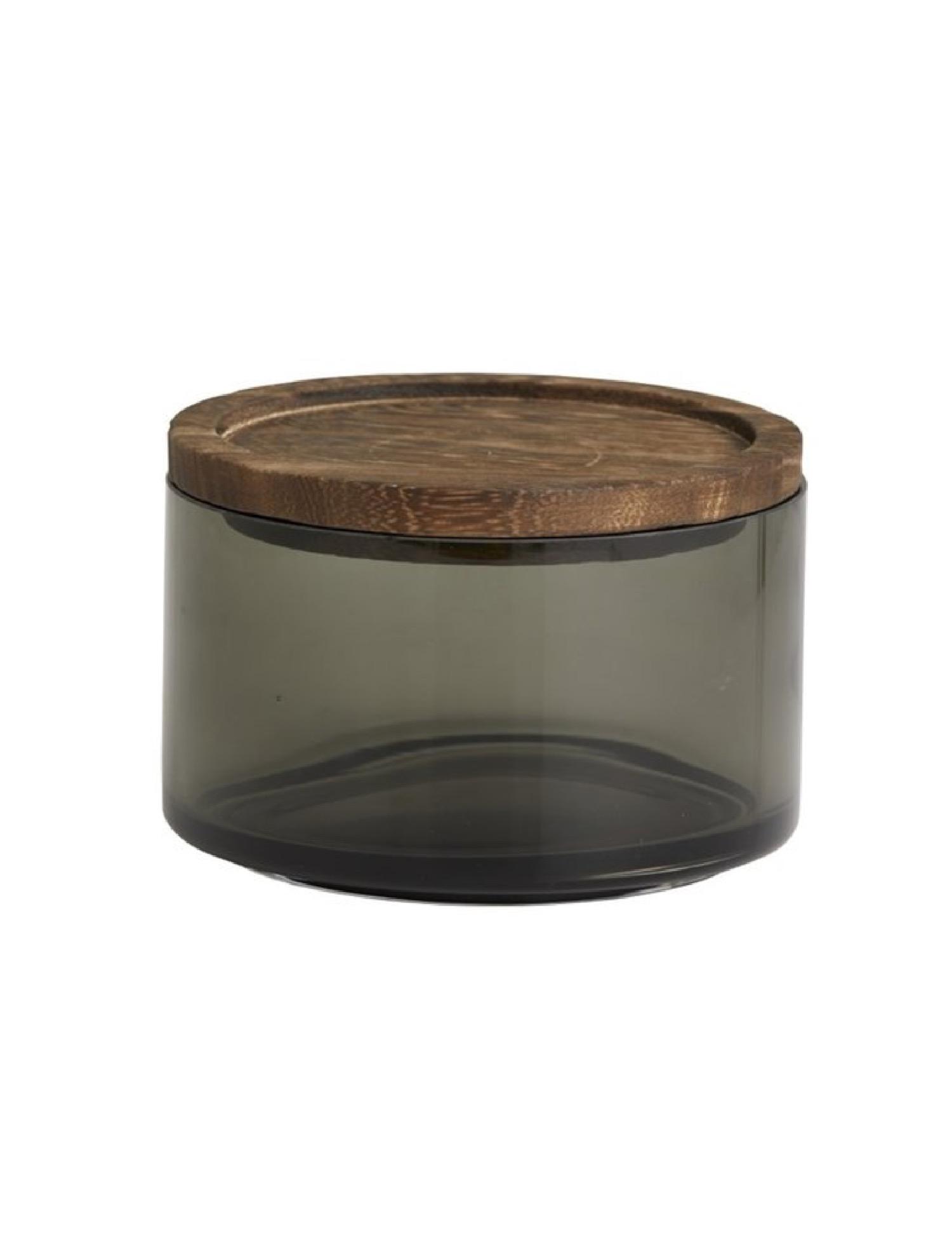 Pot en verre gris D12cm