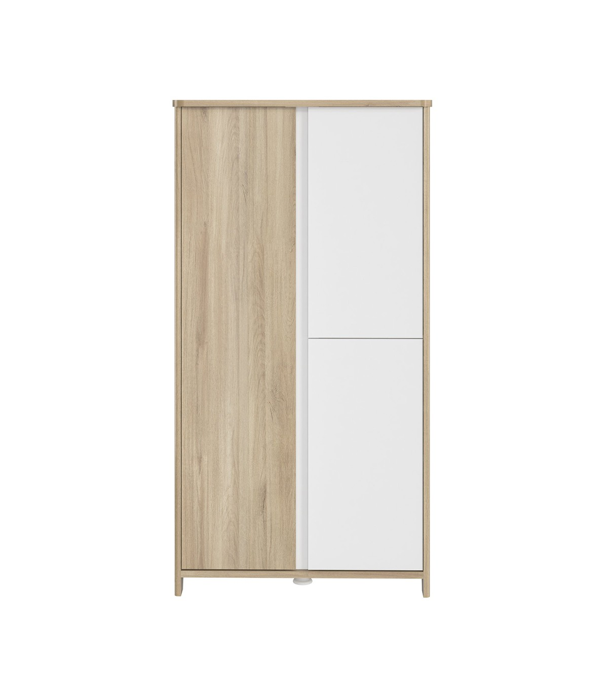 Armoire 3 portes bois et blanc Bébé - 95 x 185 cm