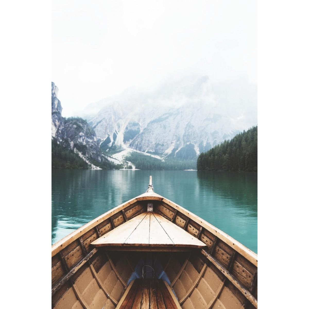 Tableau sur toile lac et montagne 45x65cm