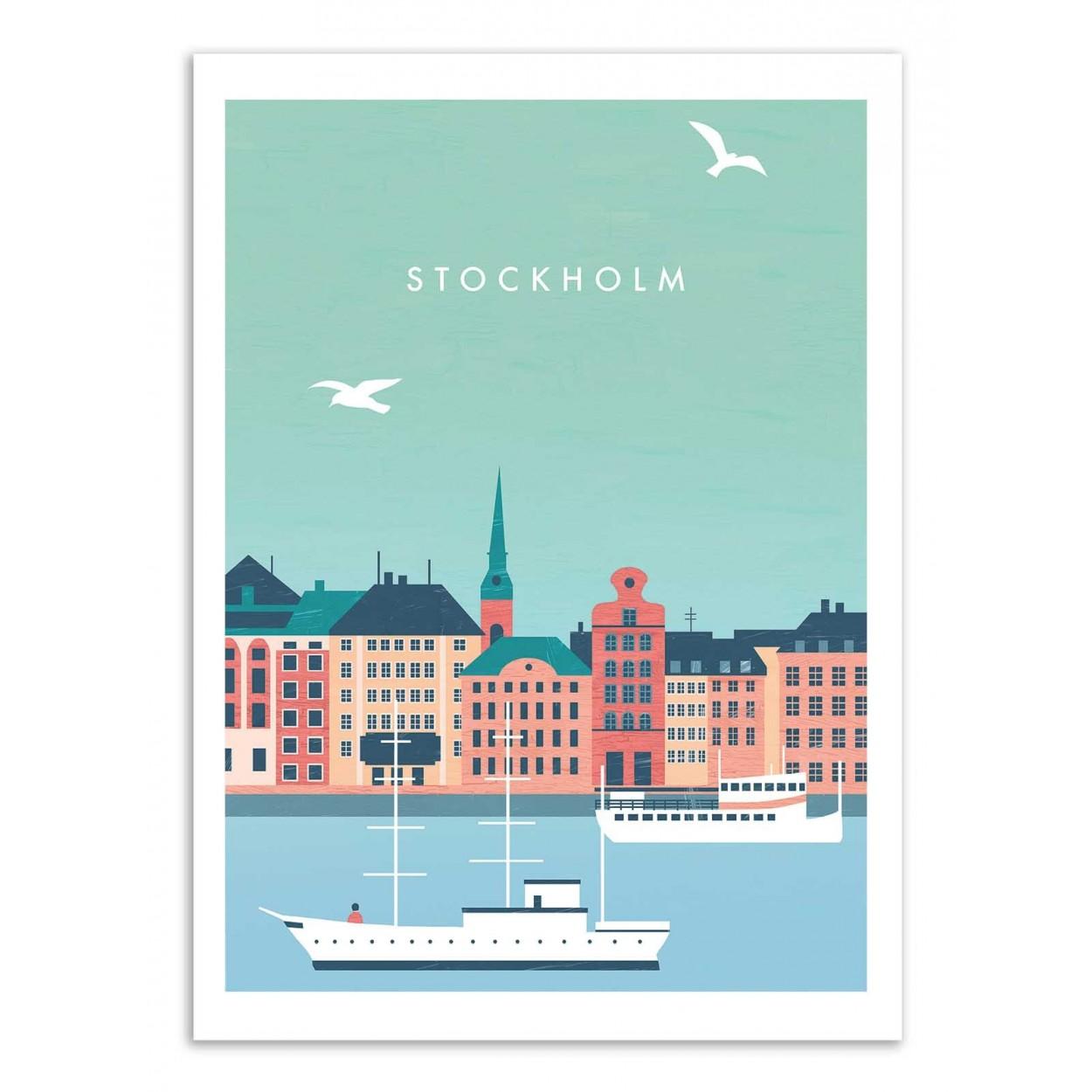 STOCKHOLM - Affiche d'art 50 x 70 cm