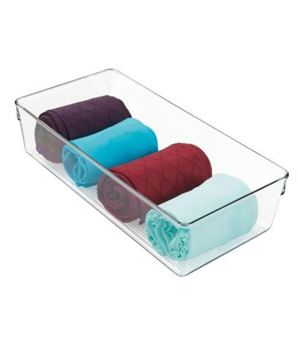Bac de rangement pour serviette transparent