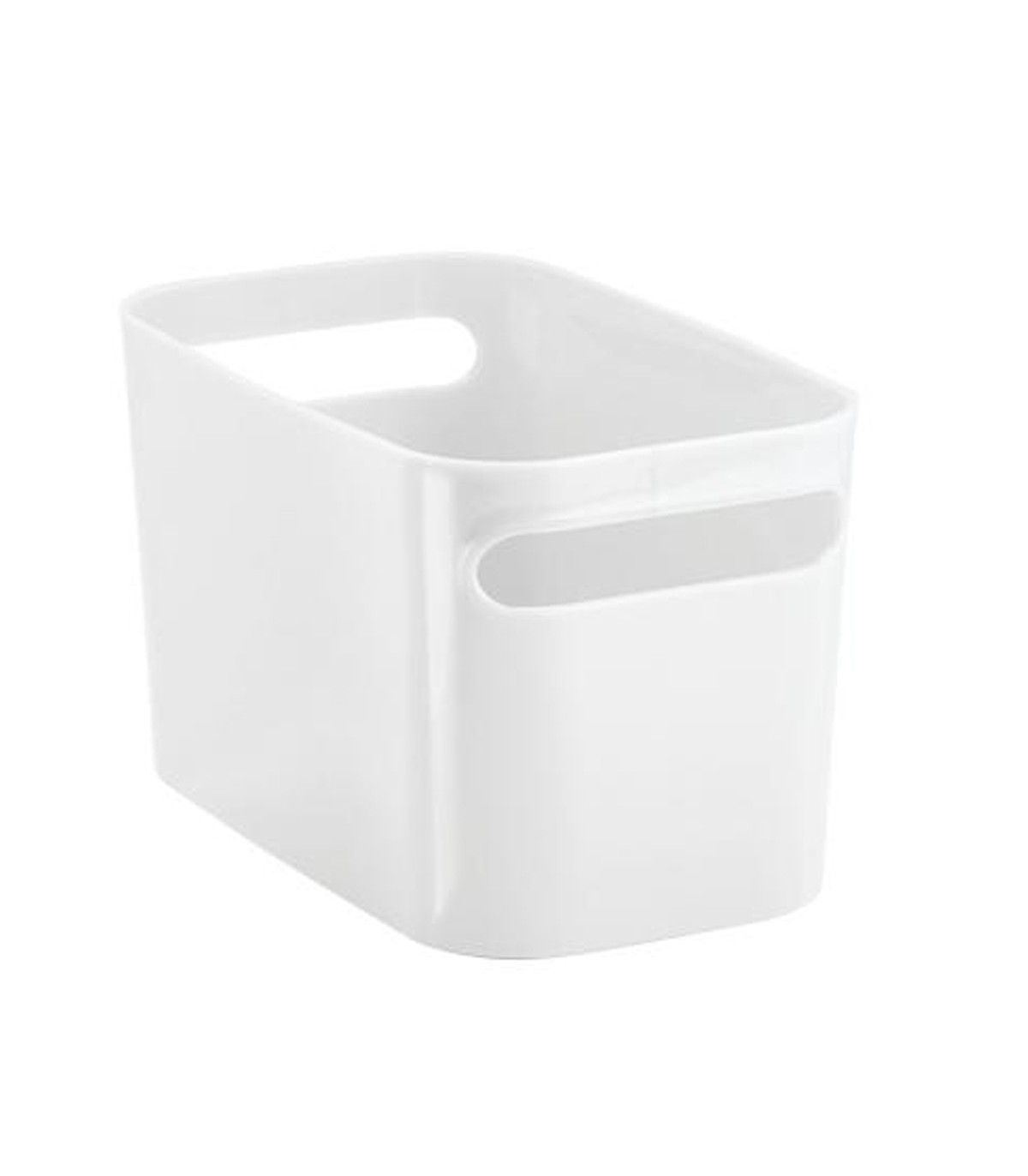Bac de rangement pour salle de bain - Blanc