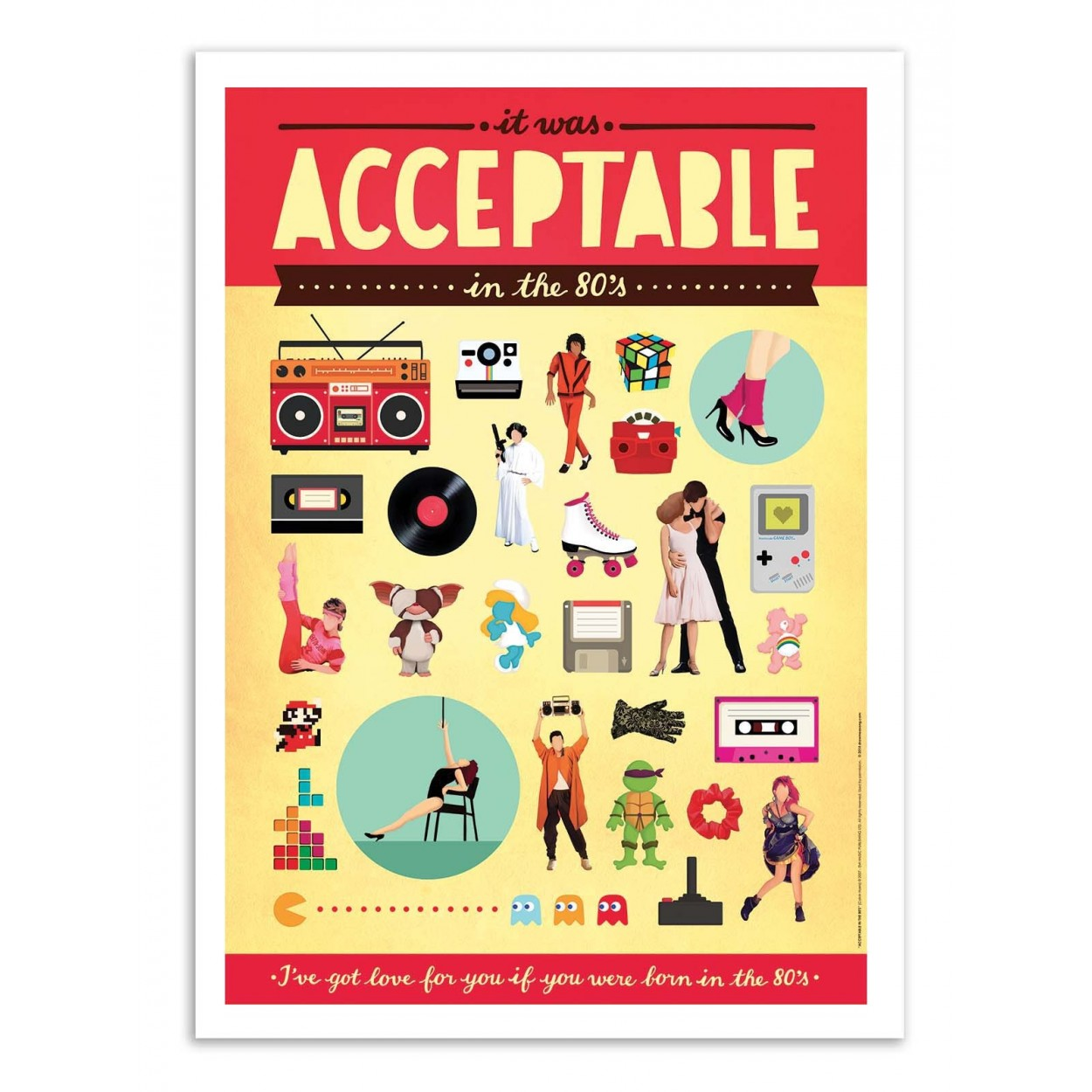 ACCEPTABLE -  Affiche d'art 50 x 70 cm