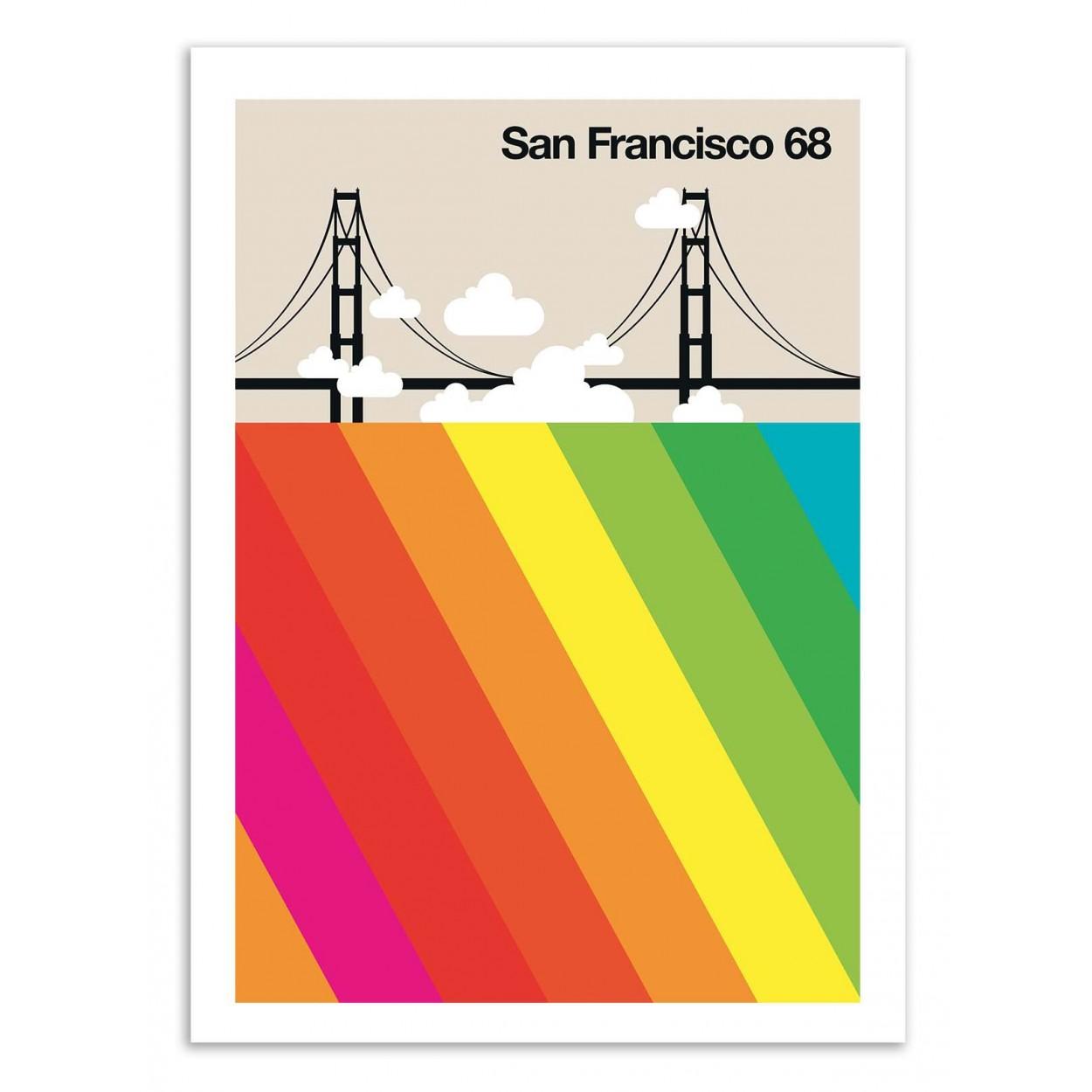 SAN FRANCISCO 68 - Affiche d'art 70 x 100 cm