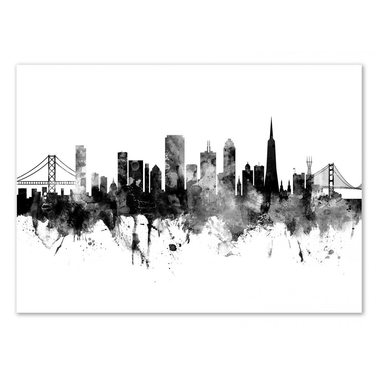 SAN FRANCISCO SKYLINE - Affiche d'art 50 x 70 cm - Michael Tompsett