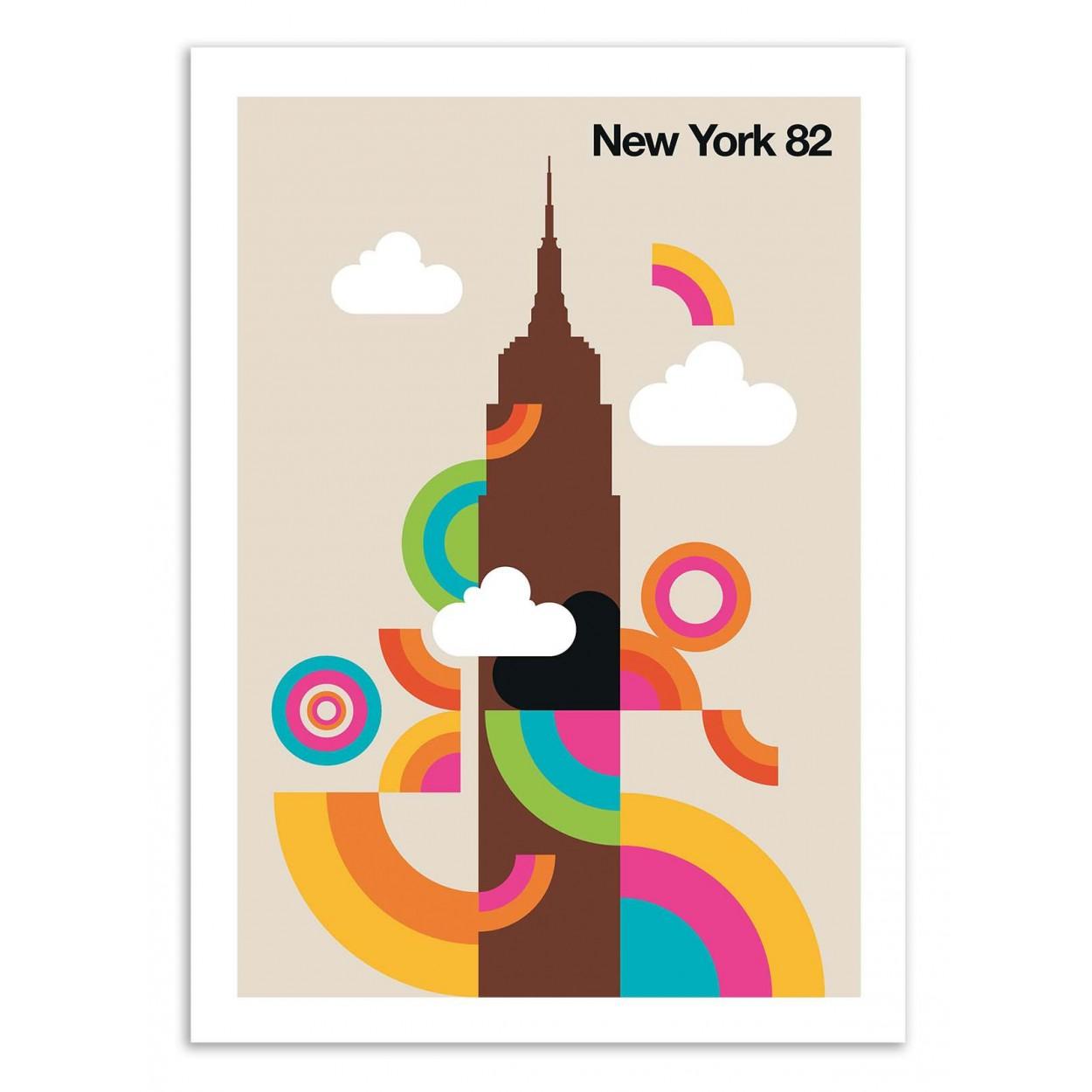 NEW YORK 82 -  Affiche d'art 50 x 70 cm