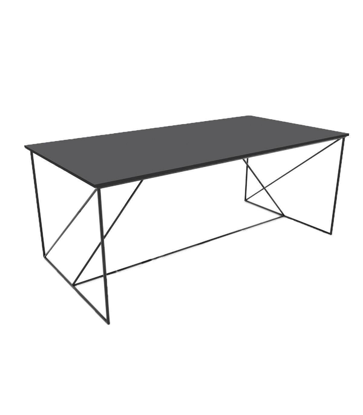 Table basse structure métallique noir L100cm