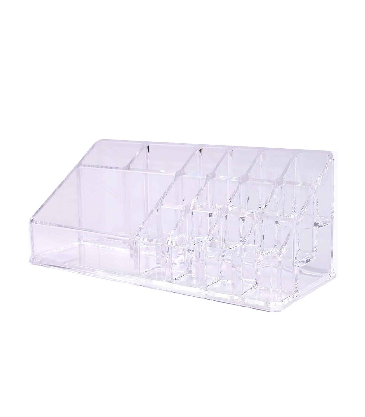 Boîte de rangement maquillage en acrylique - Transparent