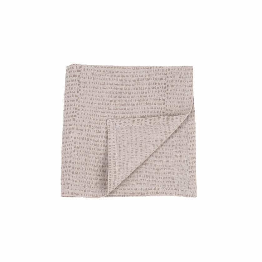 Ensemble de 4 serviettes de table en lin imprimé gris 43x45 cm