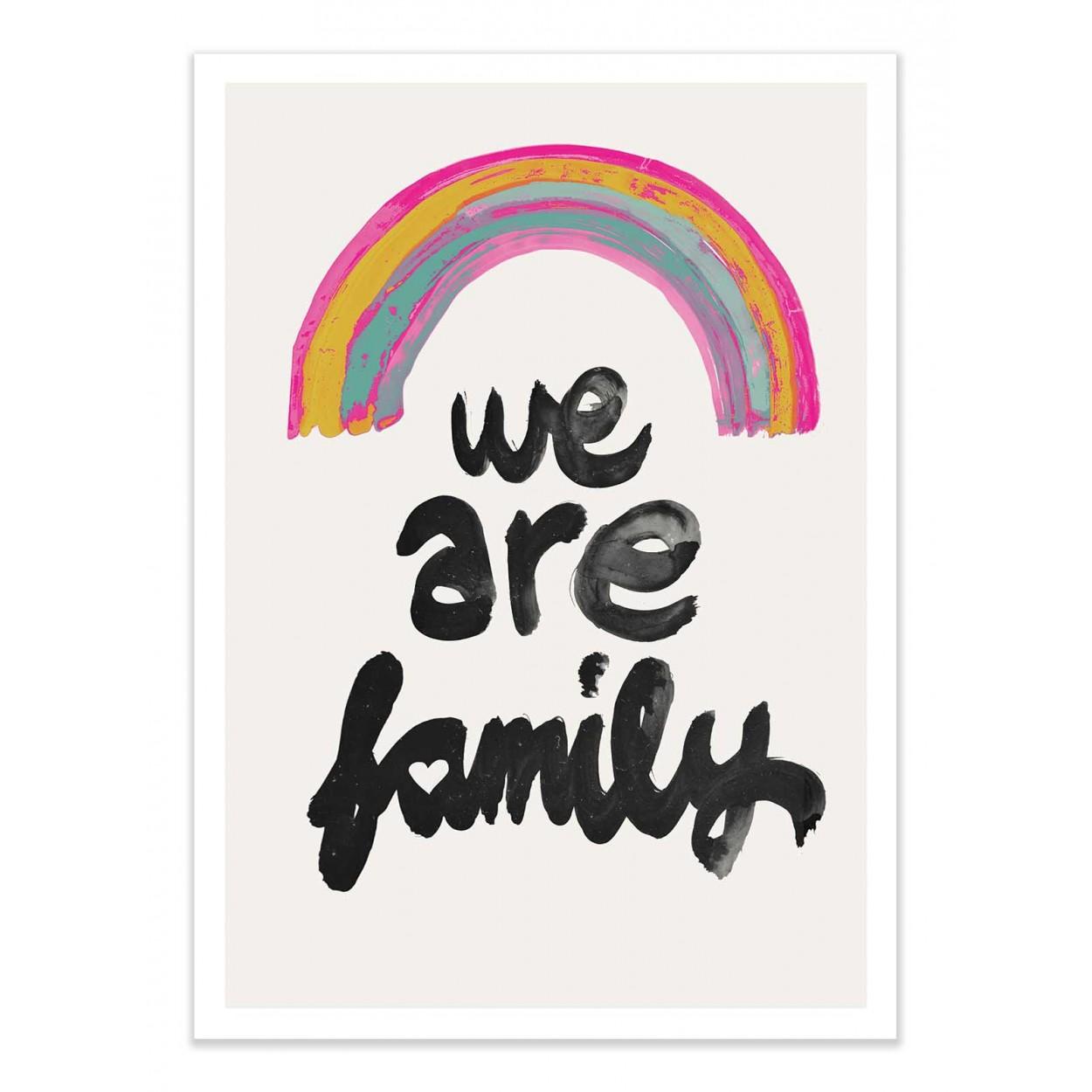 WE ARE FAMILY - TREECHILD - Affiche d'art 50 x 70 cm