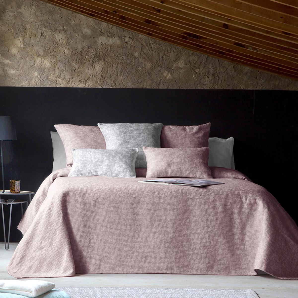 Couvre lit en 100% coton 180x270 cm mauve