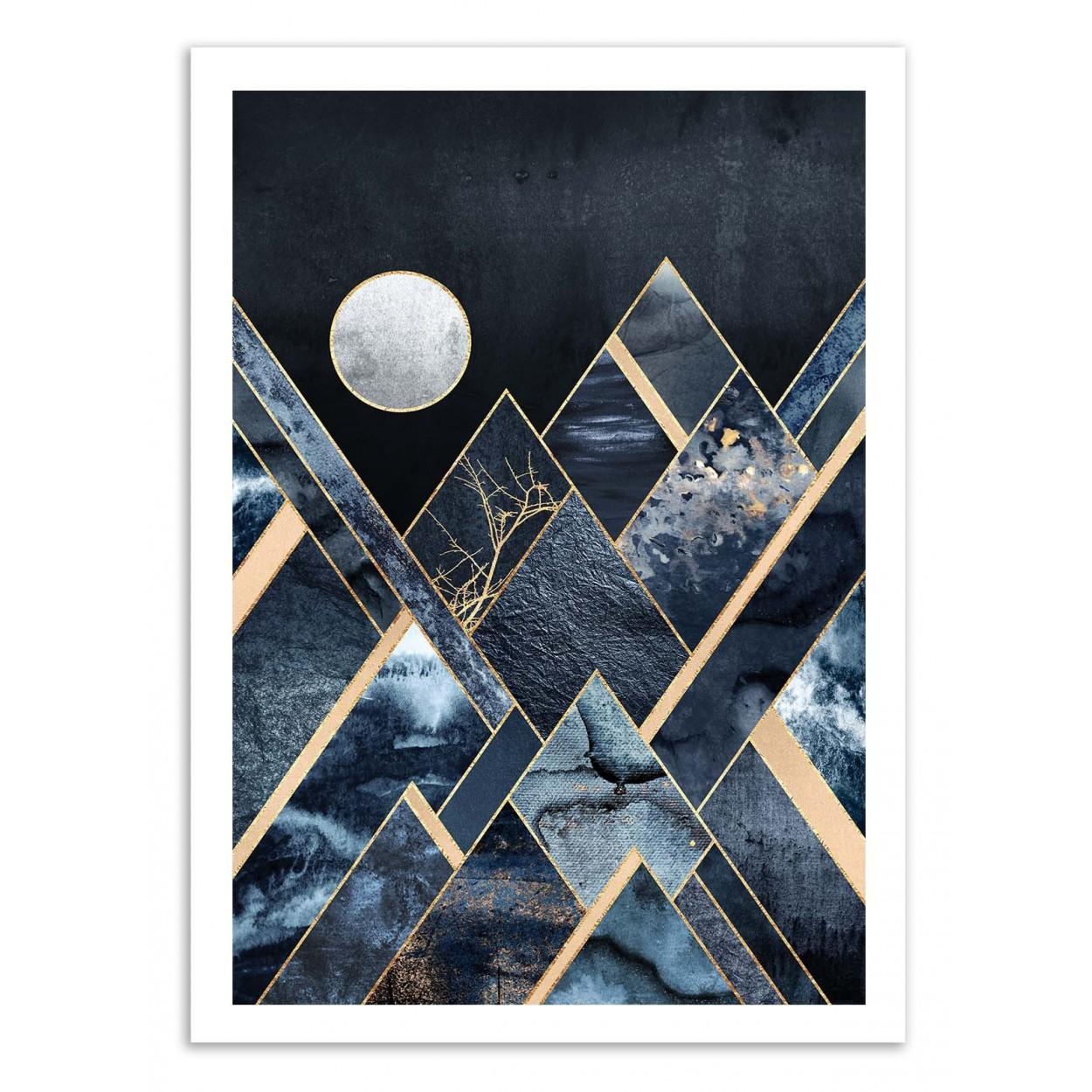 SMOCKY MOUNTAINS - Affiche d'art 50 x 70 cm