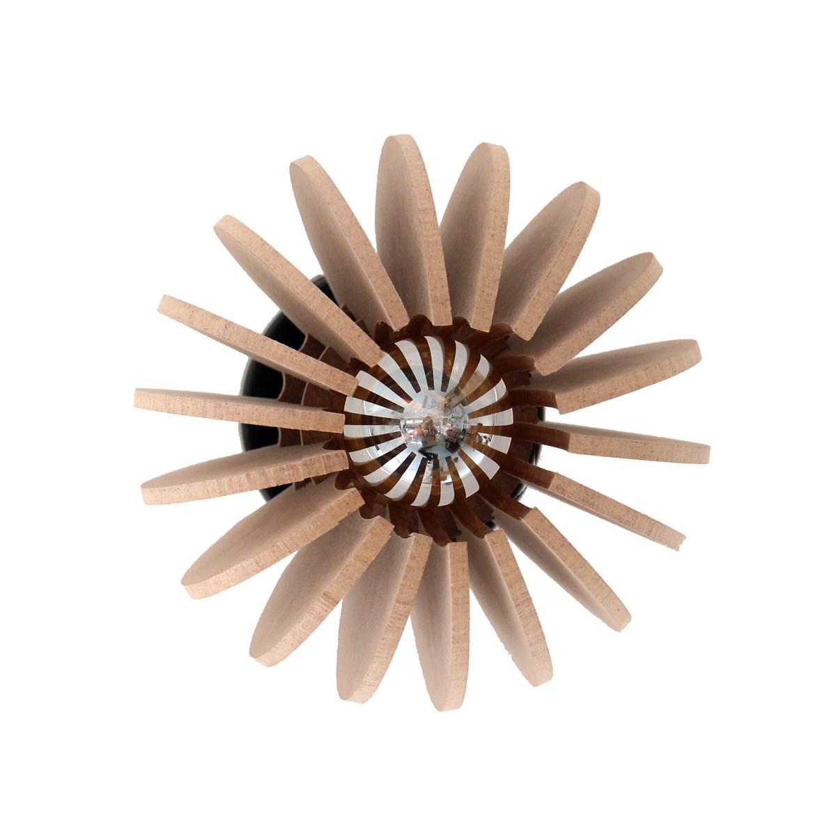 Applique bois boule beige D20cm
