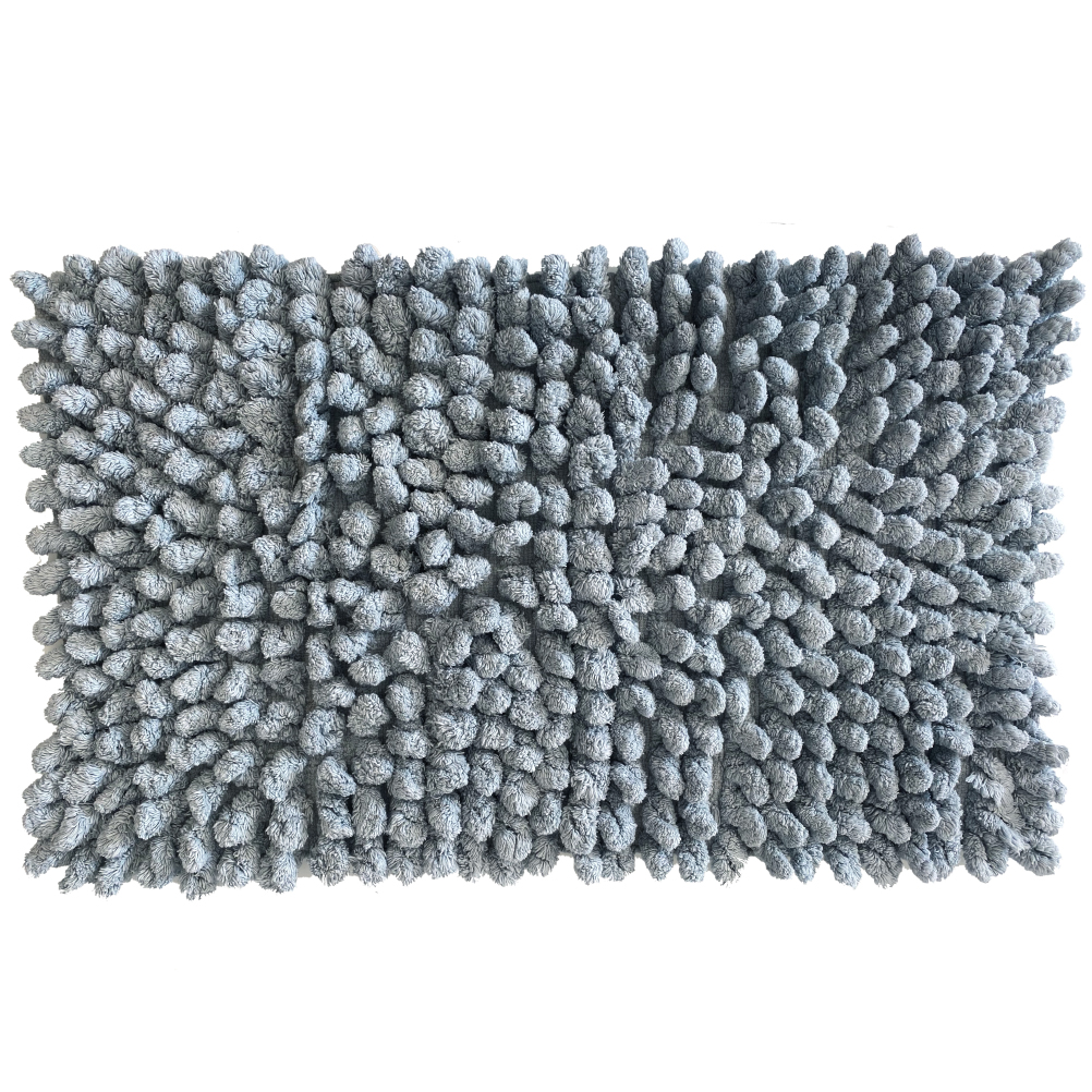 Carpette de bain en coton zinc 50x80cm