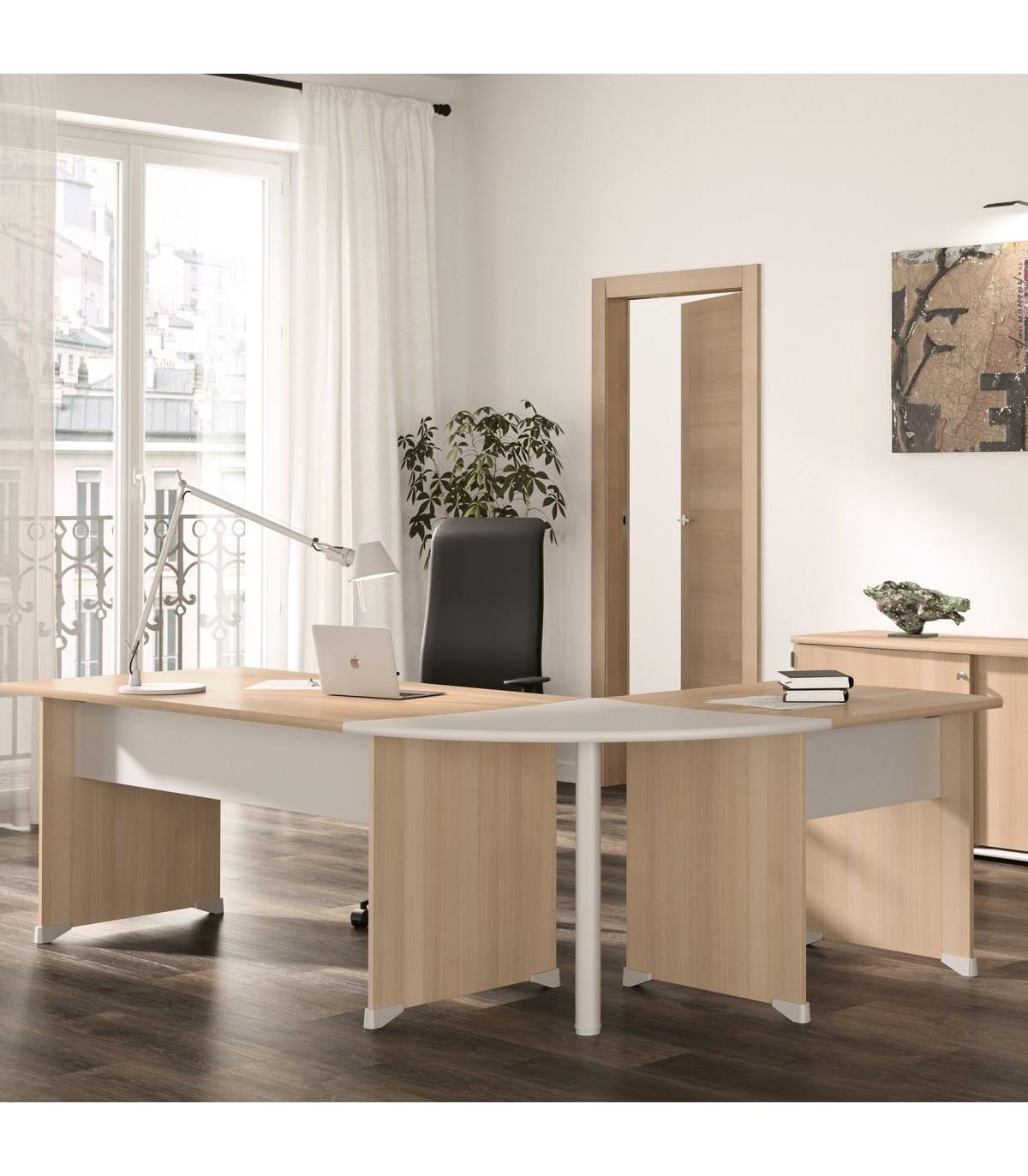 Table de bureau avec patins - Marron clair