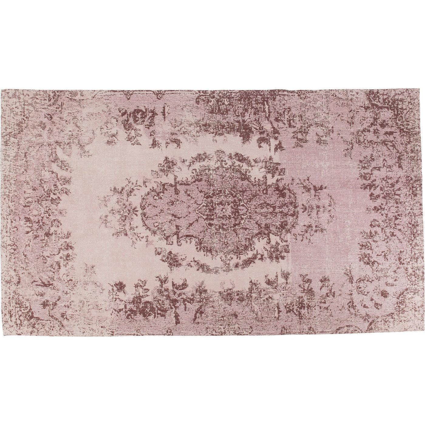 Tapis en coton rose 80x150