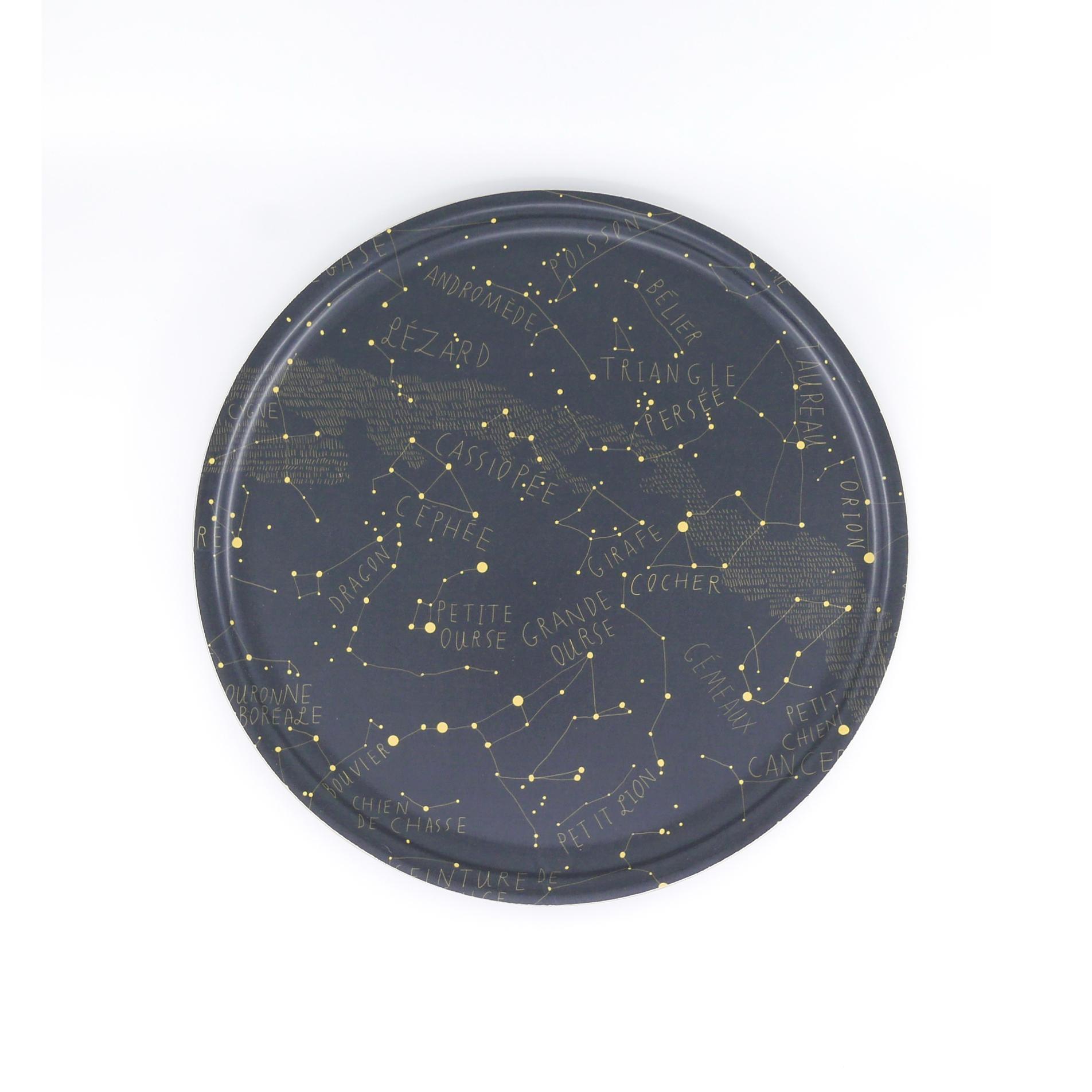 Plateau rond en bois constellation D35cm