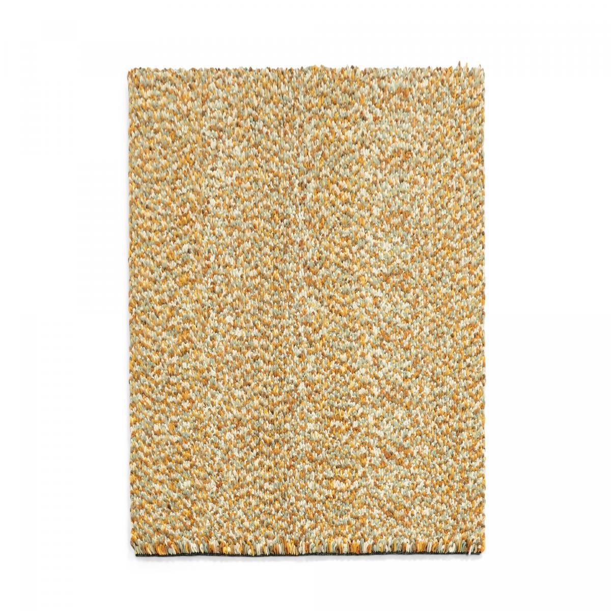 Tapis shaggy poils long en laine or 140x200