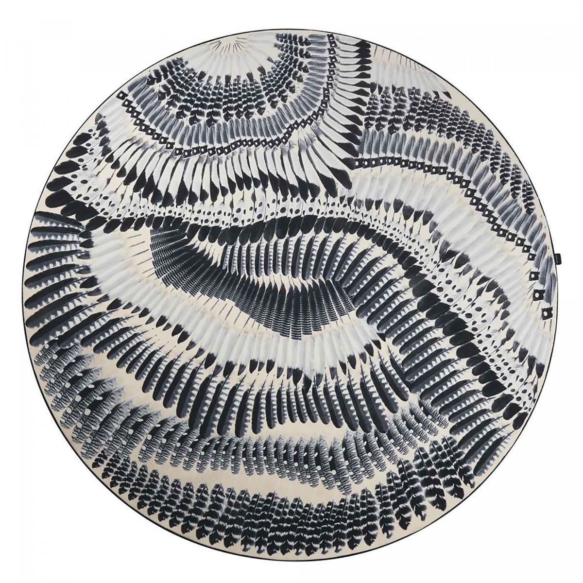 Tapis rond en polyamide gris 250x250 rond
