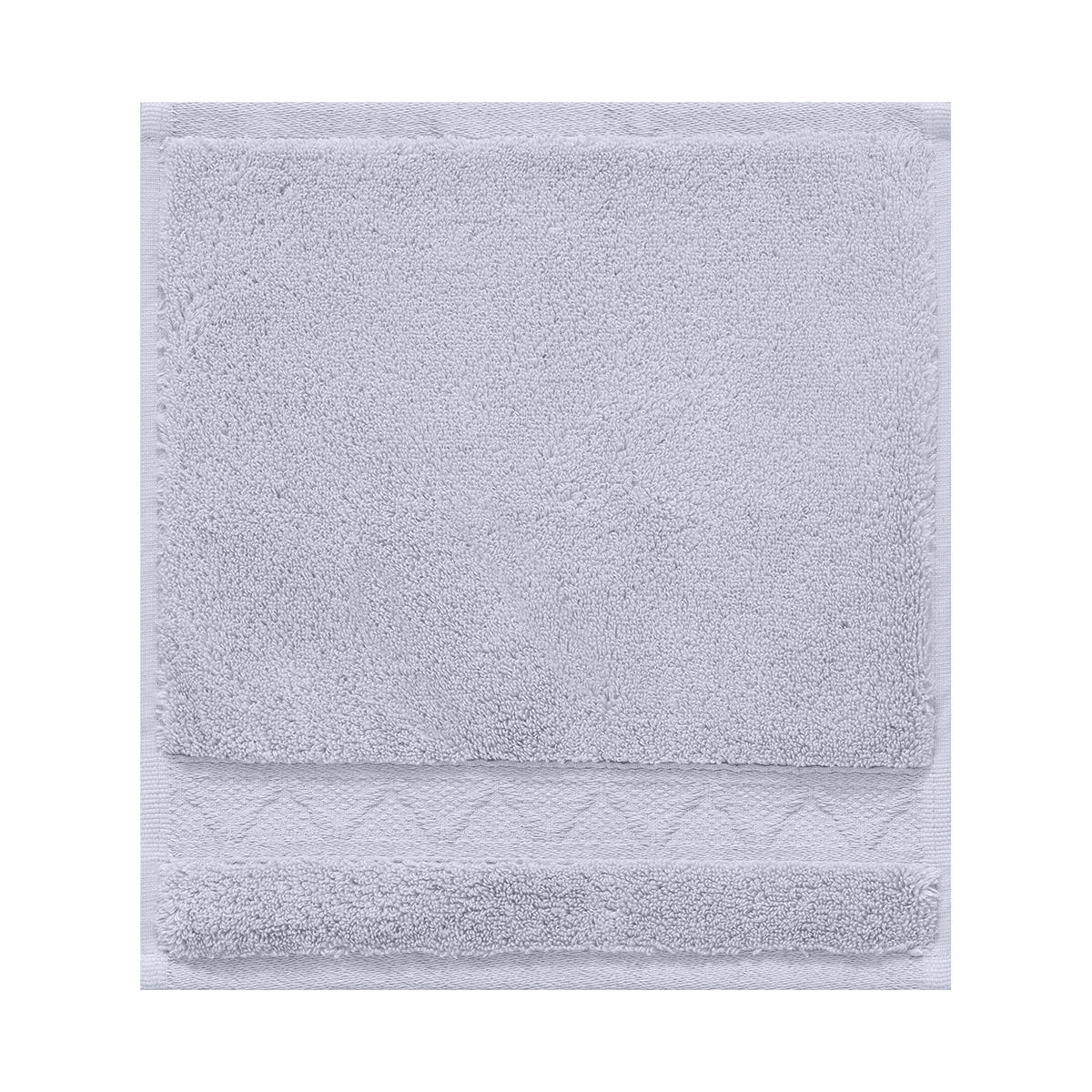 Carré visage en coton voile grisé 30 x 30