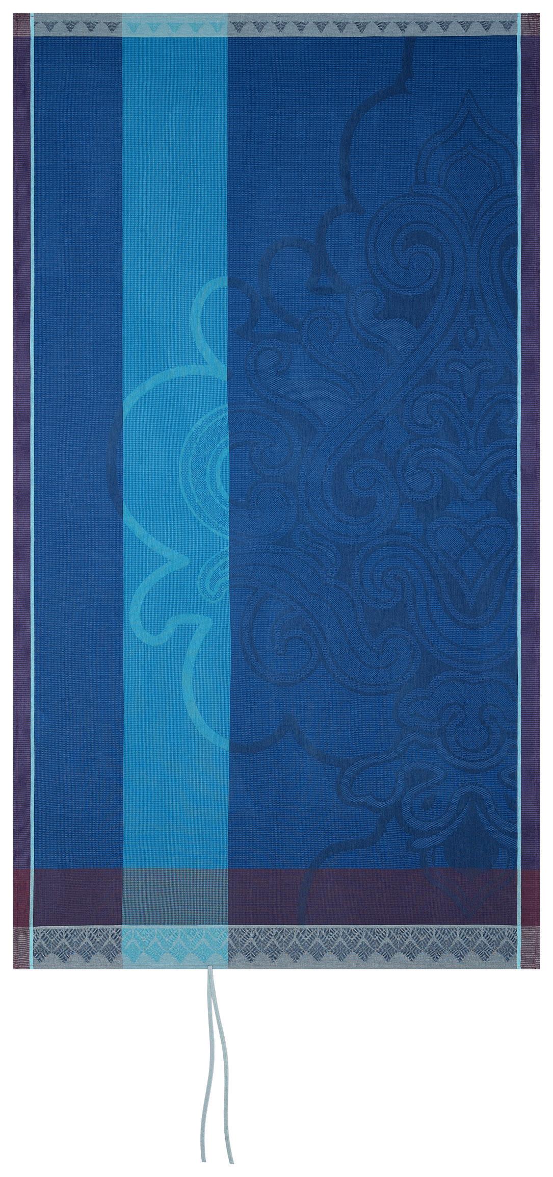 Drap de plage en coton lapis lazuli 100 x 200