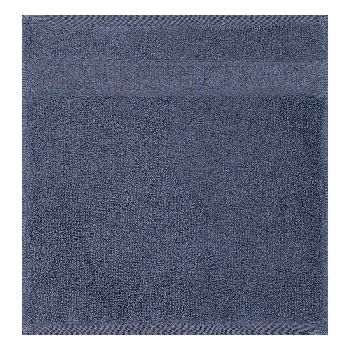 Carré visage en coton bleu orient 30 x 30