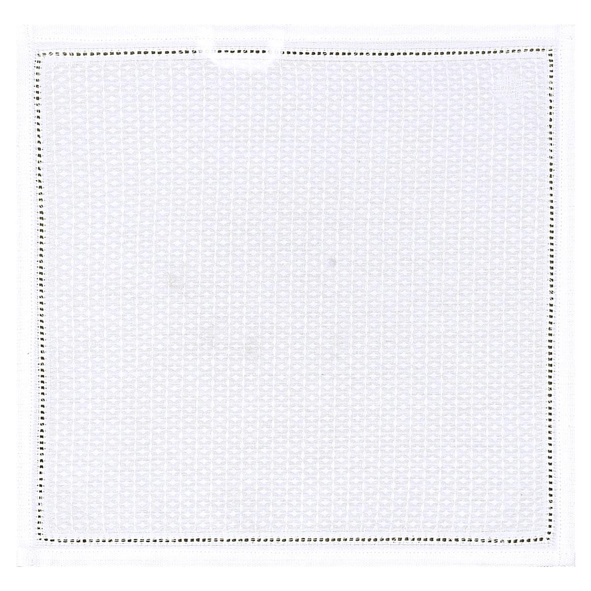 Carré visage en coton blanc 30 x 30