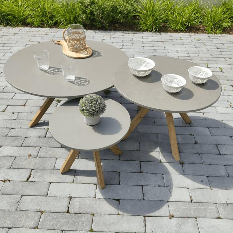 Table basse en bois Ø80 cm - Lagos