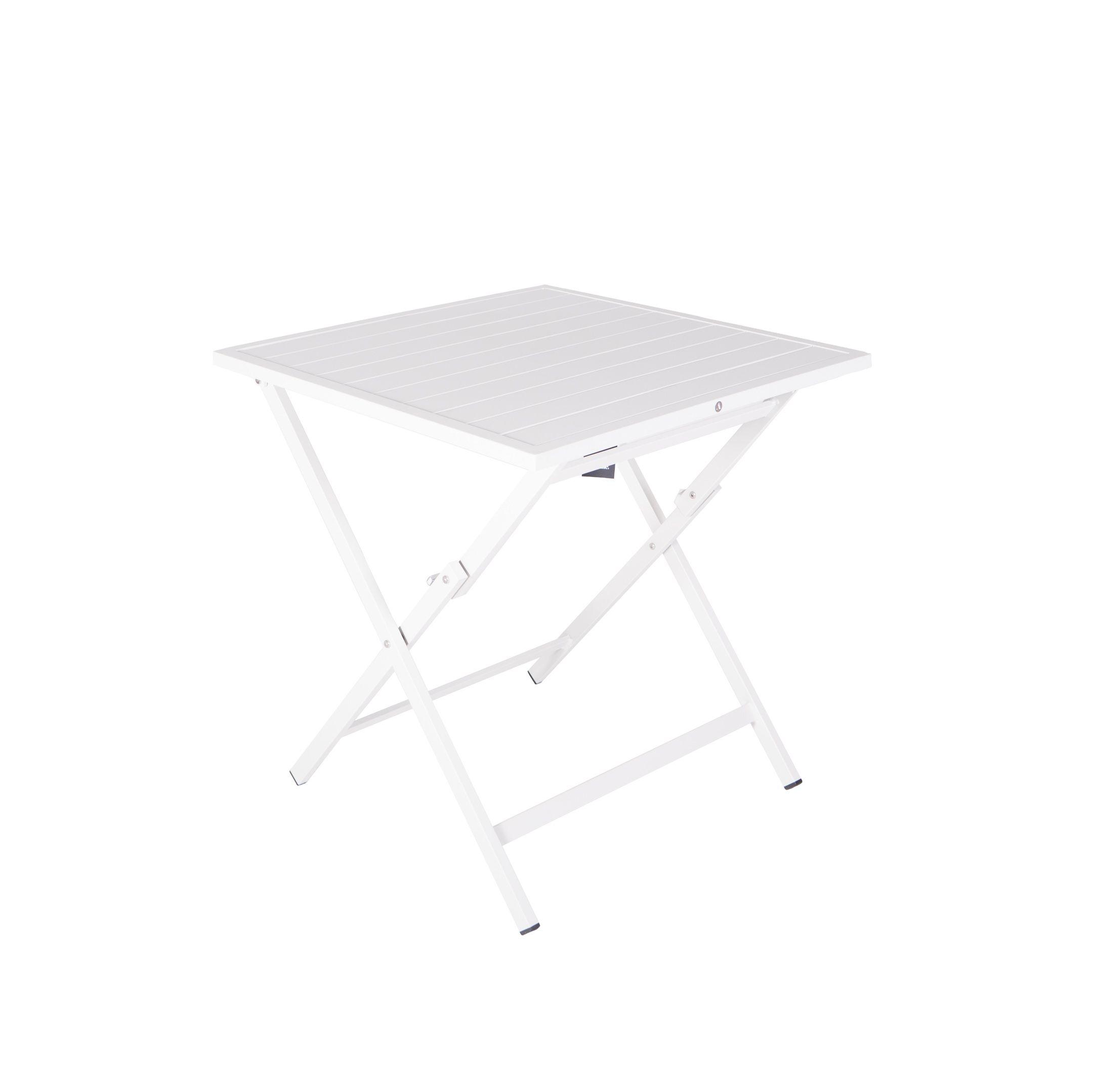 Table de jardin pliante en aluminium